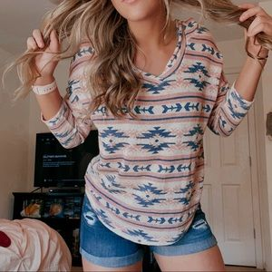 Aztec-Patterned Sweater